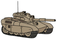 Funny sand heavy tank. Hand drawing of a funny sand heavy tank vector illustration