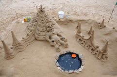 Funny sand sculpture Royalty Free Stock Image
