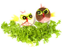Funny sandwich Angry Birds for children. Stock Image