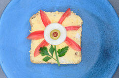 Funny sandwich for children Royalty Free Stock Photo