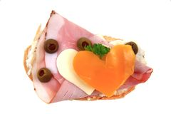 Funny sandwich for chilren lovers Royalty Free Stock Image