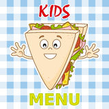 Funny sandwich Stock Images