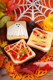 Funny sandwiches for halloween Royalty Free Stock Image