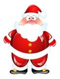 Funny Santa. Humor Glossy icon Stock Photo