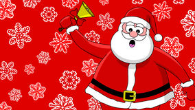 Funny santa and bell Stock Images