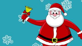 Funny santa and bell stock video