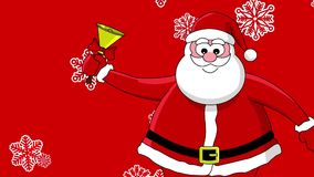 Funny santa and bell stock video footage