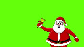 Funny santa and bell stock footage