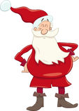 Funny santa cartoon Royalty Free Stock Image