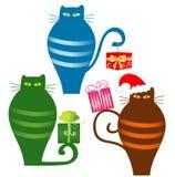 Funny Santa Cats Stock Photos