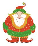 Funny Santa Claus. It is amusing chubby Santa Klaus isolated on white background Royalty Free Stock Photos