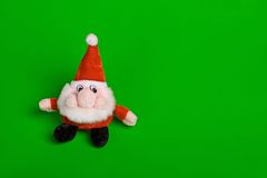 Funny Santa Claus. Against green background Royalty Free Stock Photo