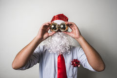 Funny santa claus babbo natale Stock Images
