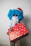 Funny santa claus babbo natale Stock Image