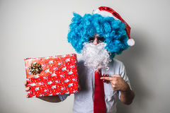 Funny santa claus babbo natale royalty free stock photography