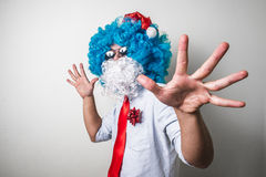 Funny santa claus babbo natale Royalty Free Stock Images