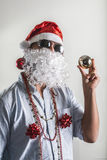 Funny santa claus babbo natale Royalty Free Stock Photos