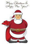 Funny Santa Claus with a bag Stock Photos