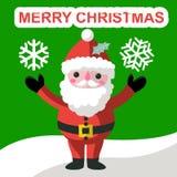 Funny Santa Claus and bird Stock Photos