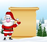 Funny santa claus with blank sign Stock Photography