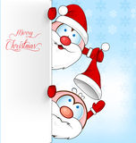 Funny santa claus cartoon Royalty Free Stock Image