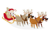Funny santa claus cartoon Stock Image