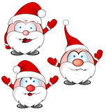Funny santa claus cartoon set Stock Images