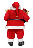 Funny Santa Claus Doll With Presents Back View Stock Photo