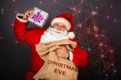 Funny Santa Claus have a fun Royalty Free Stock Photos