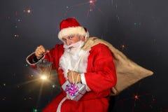 Funny Santa Claus have a fun Royalty Free Stock Photo