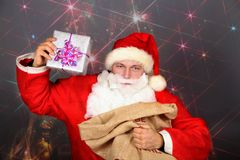 Funny Santa Claus have a fun Stock Image