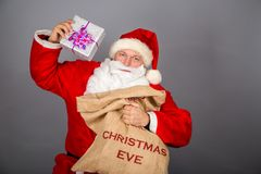 Funny Santa Claus have a fun Royalty Free Stock Photography