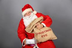 Funny Santa Claus have a fun Royalty Free Stock Image