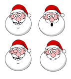Funny Santa Claus heads Stock Images