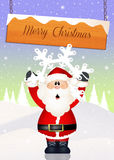 Funny Santa Claus. Illustration of Funny Santa Claus at Christmas Stock Photos