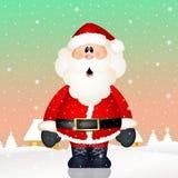 Funny Santa Claus. Illustration of Santa Claus in the snow Royalty Free Stock Photo