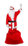 Funny santa claus isolated on white Royalty Free Stock Images
