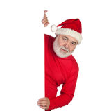 Funny Santa Claus with poster Royalty Free Stock Photos