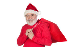 Funny Santa Claus with red sack Royalty Free Stock Images