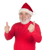 Funny Santa Claus saying OK with his thumbs Stock Image