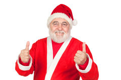 Funny Santa Claus saying OK with his thumbs Stock Photo