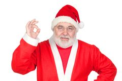 Funny Santa Claus saying OK with his thumbs Royalty Free Stock Photography