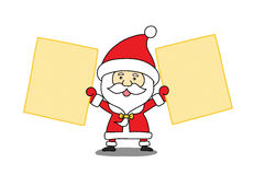 Funny Santa claus with a sheet of paper Royalty Free Stock Images
