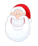 Funny Santa Claus smiling Stock Images