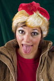 Funny Santa Claus sticking out tongue Royalty Free Stock Photo
