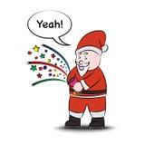 Funny santa claus. Vector eps10. Royalty Free Stock Photography