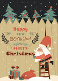 Funny Santa Claus wishing you Merry Christmas Royalty Free Stock Images