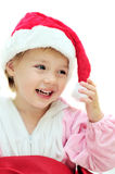 Funny Santa girl Stock Images