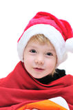 Funny Santa girl Stock Photography