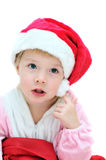 Funny Santa girl Royalty Free Stock Photos